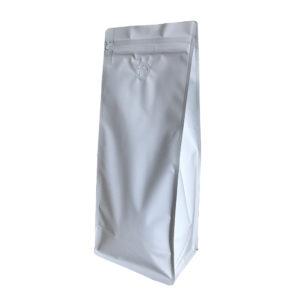 Белый пакет для кофе 1 кг
